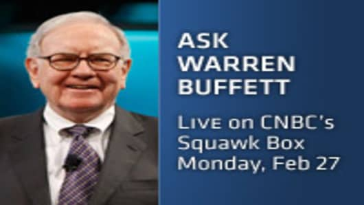 Ask Warren Buffett | Live on CNBC's Squawk Box | Monday, Feb 27