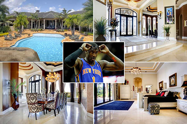 Price: $3.7 millionLocation: Southwest Ranches, Fla.Bedrooms: 6Bathrooms: 6Square footage: 14,555Last fall, the Knick All Star who became a pro baller right out of high school in 2002 bought a custom house in his native state of Florida.  The mansion is in Southwest Ranches, a suburb of Fort Lauderdale, and Stoudemire got it for a discount from the original $4.65 million asking price., according to the real estate website .The 3-year-old luxury property features soaring ceilings to accommodate S