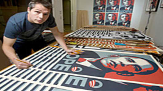 "Shepard Fairey, the creator of the Barack Obama ""HOPE"" poster."