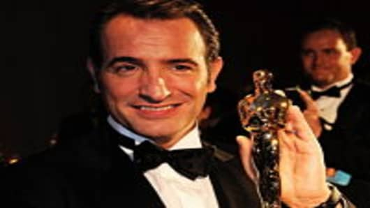 HOLLYWOOD, CA - FEBRUARY 26: Actor Jean Dujardin, winner of the Best Actor Award for 'The Artist,' attends the 84th Annual Academy Awards Governors Ball held at the Hollywood & Highland Center on February 26, 2012 in Hollywood, California.