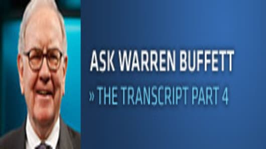 Ask Warren Buffett | The Transcript Part 4