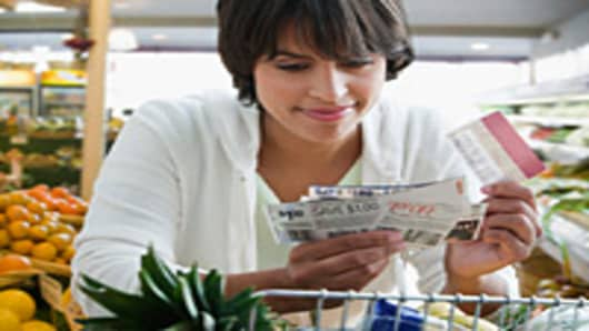 Woman couponing