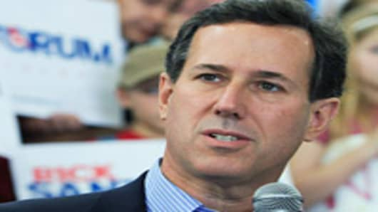 Republican presidential candidate and former U.S. Sen. Rick Santorum wins Tennessee.