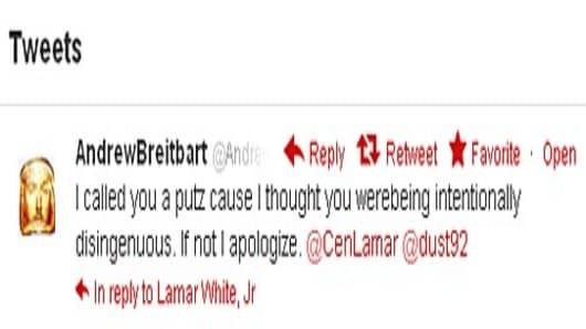 Andrew Breitbart's final tweet