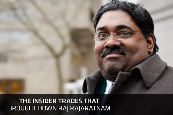 As head of a $7 billion hedge fund, Raj Rajaratnam's phone often rang off the hook, and many of the calls were from corporate insiders who provided a goldmine of market-moving information. Unbeknownst to Rajaratnam, though, federal agents tapped his phone and the Wall Street titan was ultimately found guilty of perpetuating one of the largest cases of insider trading in history. Born in Sri Lanka, Rajaratnam grew up to become a self-made millionaire. He founded Galleon Group, which became one of