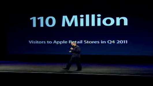 110 Million visitors to Apple Retail Stores in Q4 2011.