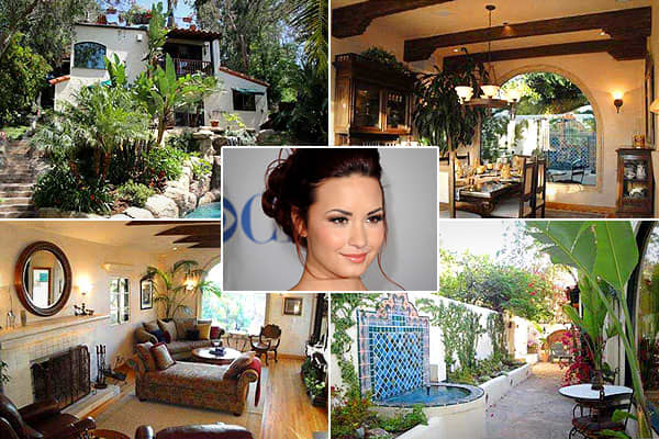 """Location: Sherman Oaks, Calif. Price: $2.25 millionBedrooms: 4Bathrooms: 5Square Footage: 4,053She's still a teenager, but Demi Lovato has packed lots of experience in her 19 years—the singer and Disney actress is also an alumna of """"Barney and Friends"""" and she dated fellow teen idol Joe Jonas. """"Demi Lovato: Stay Strong,"""" a documentary about her battles with bulimia and self-injury, debuted in Marchon MTV. Lovato purchased this Spanish-style home for her family around her 18 birthday for $2.25 mi"""