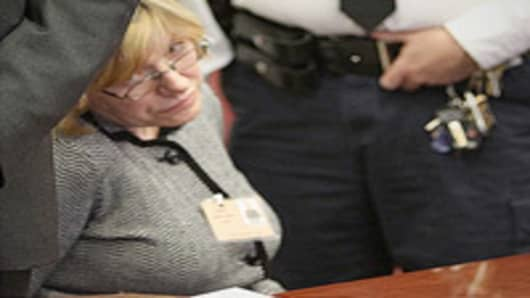 Anna Gristina, woman charged with promoting prostitution, appears in State Supreme Court, New York.