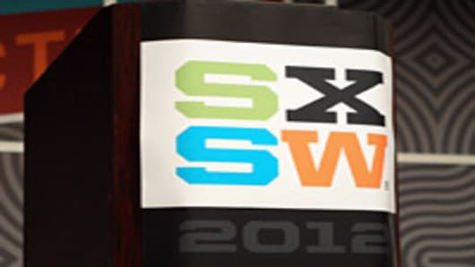 A view of the podium onstage at the 2012 SXSW Music, Film and Interactive Festival in Austin, Texas.