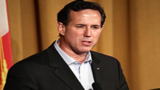 Republican presidential candidate, Rick Santorum speaks at the Alabama Republican Presidential Forum.