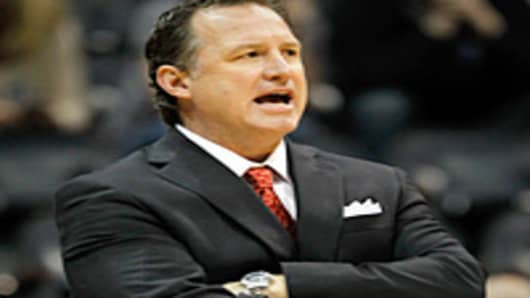 Head coach Mark Gottfried of the North Carolina State Wolfpack.
