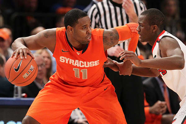 The 6-2 senior is a key player on #1 seeded Syracuse Orange. Jardine will likely have to pick up his 8.3 points per game average with center Fab Melo declared ineligible for the tournament.
