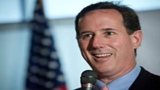 Presidential candidate and former U.S. Rick Santorum (R-PA) speaks during a town hall meeting with veterans at the 304 Grill in the financial district March 14, 2012 in Old San Juan Puerto Rico.