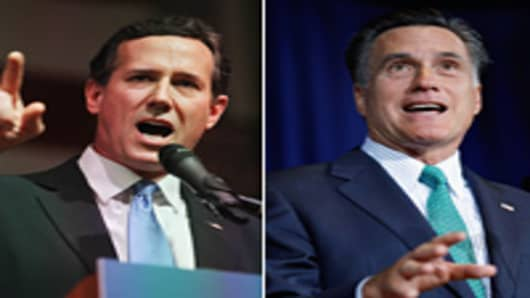 Rick Santorum and Mitt Romney battle for Illinois