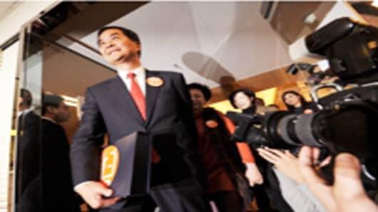 Hong Kong chief executive candidate Leung Chun-ying