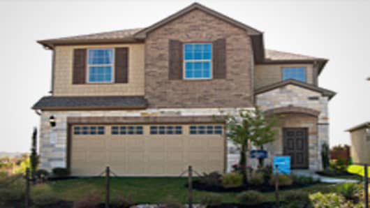 A model home at a new Pulte Homes community, Preston Village, in North Austin.