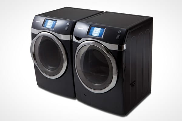 Price: $3,398 for both Digital Smarts: Samsung's WF457 Wi-Fi-enabled washer and dryer perform a multitude of tasks — short of placing and removing your clothes, and folding them. The front-loading washer features a 4.5-cubic-feet capacity, one of the largest in the industry. The machine comes with a smart-phone application so you can monitor cycles remotely and receive alerts if there are problems. The washer's advanced rinsing systems means a cycle that's up to 25 percent shorter compared to co
