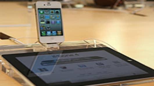 iPhone 4 and iPad display