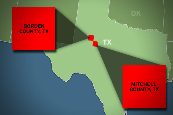 Wealth gap: 103.35% Borden avg. annual income: $93,417 Mitchell avg. annual income: $45,939 In northwestern Texas, two rural and sparsely populated counties are also quite different when it comes to annual income, with Borden County more than doubling the average household incomes in neighboring Mitchell County. With a population of less than 650 people as of 2010, Borden has had a fortunate economic history: It was home to the inventor of condensed milk, Gail Borden Jr., after whom the county i