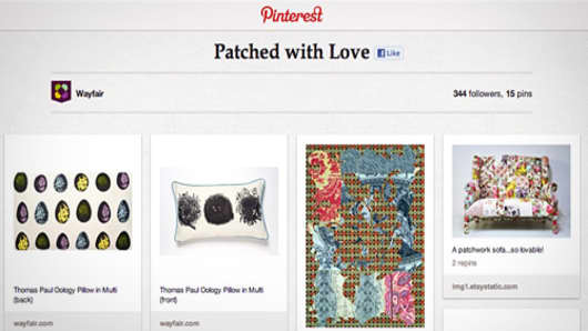 Wayfair, Pinterest