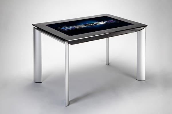 "Price: $8,400 Large capacity touchscreen devices are still in their infancy, but they inevitably draw a crowd at the Consumer Electronic Show each year. Imagine a desktop computer set into a table that allows you to shift things onscreen around with your hands like you've seen on ""Hawaii Five-0."" Most makers are still in prototype; Samsung's 40-inch, high-definition LCD panel that recognizes fingers, hands and other objects placed on the screen is the only one shipped to retail."