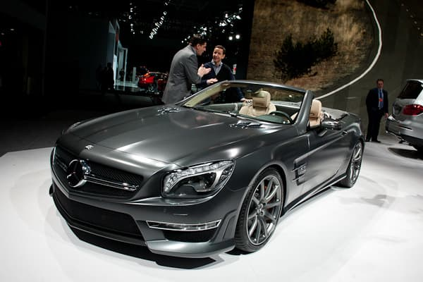 Mercedes-Benz's AMG division unveiled the 2013 Mercedes-Benz SL65 AMG to the public as its top SL AMG, replacing the SL63 AMG that was unveiled at the Geneva Motor Show earlier this year. Powered by a 6.0-liter twin-turbo V-12, the SL65 AMG can put out 625 horsepower and 738 lb-ft of torque. According to Mercedes-Benz, the SL65 AMG can reach 0 to 60 in 3.9 seconds with top speeds of 186 mph. An AMG Speedshift Plus 7-speed sequential-shift transmission allows drivers to select their preferred dri