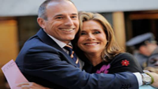 Meredith Viera and Matt Lauer, co-anchors of NBC's Today show