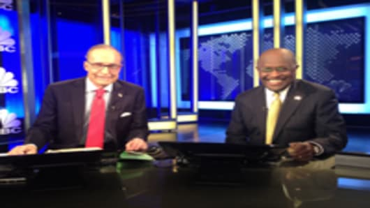 Larry Kudlow and Herman Cain