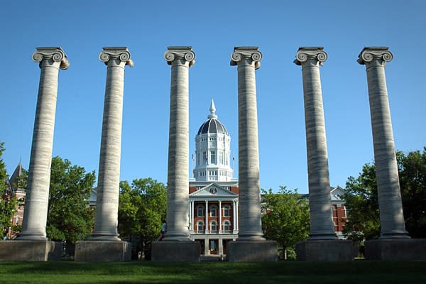 Columbia is the home of the University of Missouri, Columbia College and Stevens College. With all that higher learning going on, it's not surprising that the city has earned the nickname Apart from education, the  of Columbia is based in medicine and in the insurance industry. Its 6.6 percent job growth rate was the same as Portsmouth's.