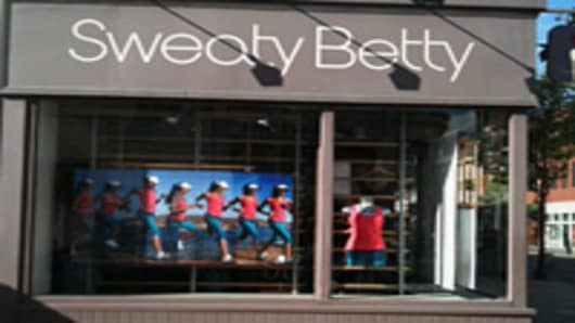 Sweaty Betty, the closest comp to LULU in London. Across the Street from LULU showroom on Kings Road, Chelsea.