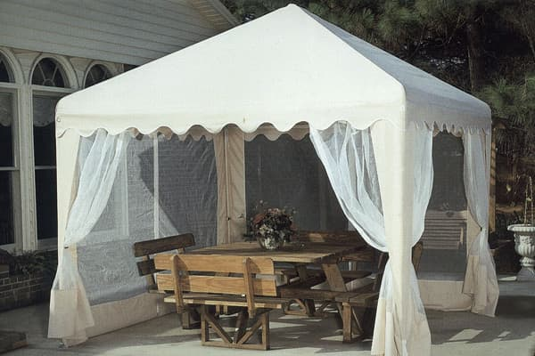Price: $244.44Store: Sam's Club For outdoor summer weddings, shade is a must-have for guests and the food. Warehouse clubs offer various options to provide cover from the beating sun or other bothersome elements. Among them is the Garden Party Gazebo from Sam's Club, which sells for $244.44.