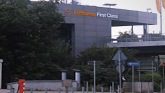Lufthansa First Class Terminal in Frankfurt.