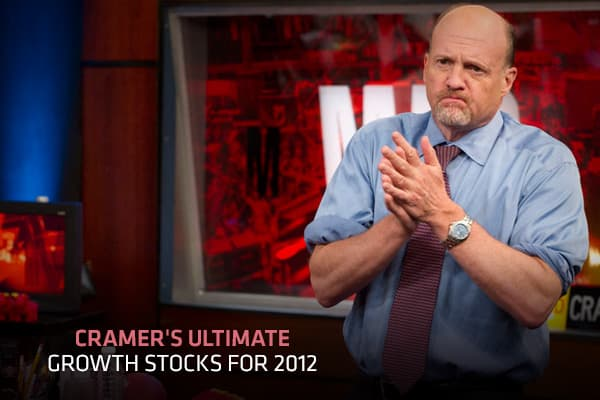 "Cramer's Ultimate Growth Stocks for 2012Instead of just panicking, ""Mad Money"" host Jim Cramer said investors can actually profit from selloffs. After all, a down day provides investors the opportunity to buy high-quality growth stocks at discount.Investors should look for companies with ""powerful long-term secular growth stories; the kind of rapid yet consistent growth that's coveted in an environment where economies around the globe seem to be slowing,"" Cramer explained. These stocks have grow"