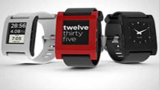 Pebble Technology iPhone synced watch