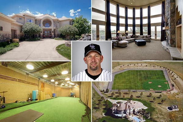 Price: $3.999 million Location: Castle Rock, Colo. Bedrooms: 6Bathrooms: 8Square footage: 10,668Walt Weiss, the 1988 American League Rookie of the Year, played 13 seasons for the Oakland As, Florida Marlins, Colorado Rockies, and Atlanta Braves before retiring in 2000.With a batting cage inside the house and a full-size baseball diamond anchoring its 73 acres, its owner's profession is immediately obvious to potential  who come for a tour.