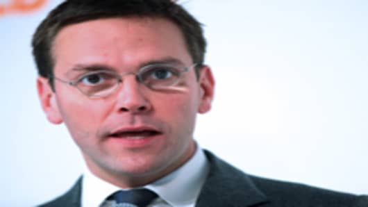 James Murdoch, News Corp.'s chairman for Europe and Asia.