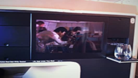 Singapore Airlines video monitor