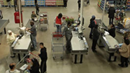 Shoppers at Costco in Nanuet, N.Y.