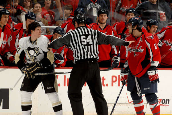 "Alex Ovechkin and Sidney Crosby play for the Washington Capitals and Pittsburgh Penguins hockey teams, respectively. The evenly matched athletes are embroiled in what ESPN  ""the best rivalry in hockey.""Both men agree that their rivalry is professional, not personal. ""To say that we absolutely hate each other, I don't think so,"" Crosby said, and Ovechkin agreed. "" Off the ice, I can shake hands and say hi like normal people,"" the Russian athlete said. ""But on the ice, you don't have friends.""Ovec"