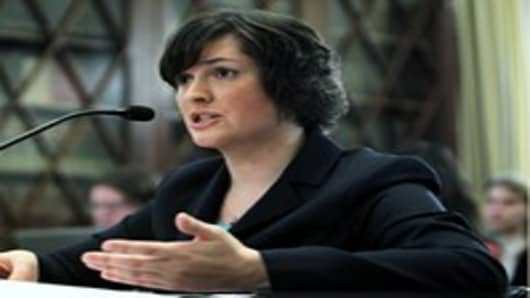 Sandra Fluke, a third-year law student at Georgetown University, testifies during a hearing before the House Democratic Steering and Policy Committee.