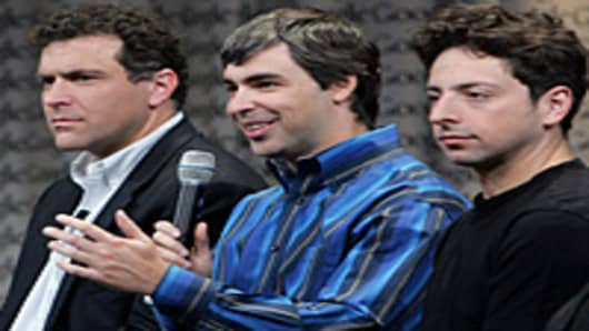 Googel CEO Eric Schmidt, and founders Larry Page and Sergey Brin