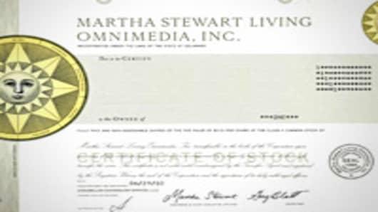 Martha Stewart Stock Certificate