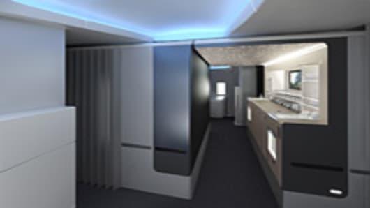 American Airlines premium cabin bar