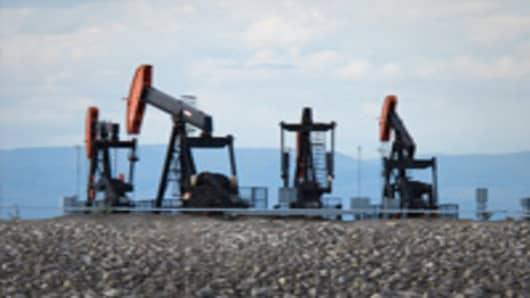Oil Rid Islands on the Mackenzie River