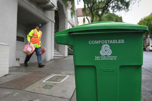 In 2009 every household and business to use three different bins for discards: blue for recyclables, green for compostables, and black for trash. It's all part of a push to cut greenhouse gas house emissions and send nothing to landfills by 2020. Failing to properly sort can result in fines ranging from $100 - $500.