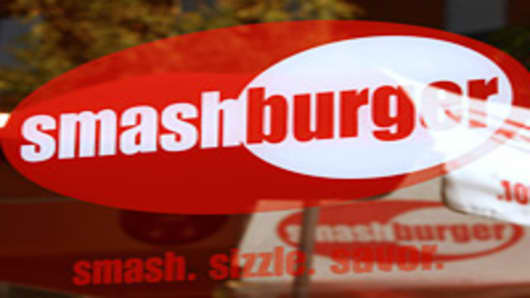 Smashburger, a chain of fast casual burger restaurants, gets it's name from the process used to cook burgers, which entails smashing a ball of 100% Certified Angus ground beef on a grill to sear in the juices.