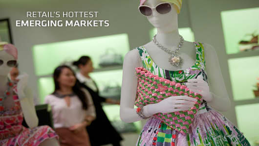 Global management consulting firm A.T. Kearney takes an annual look at which emerging markets are ripe for retail expansion.  ranks the top 30 emerging countries and grades them on many factors, including an assessment of country risk, population size, wealth as well as the country's current retail saturation. With anemic growth in the U.S. and Europe, retailers realize that global expansion is more important than ever. This has prompted retailers to search the globe for untapped consumer market