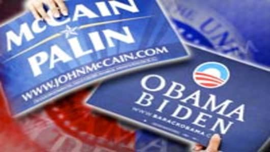 McCain and Obama 2008 campaign posters