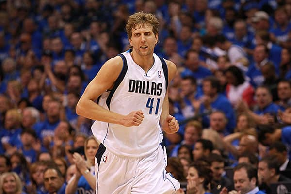 """Team: Dallas MavericksMinutes Played: 2,079Wins Produced: 2.27Value of Wins: $4,427,323Salary: $17,278,618Overpaid: $12,851,295Dirk Nowitzki has been on the roster of the Dallas Mavericks since 1998, and Berri describes his performance during most of those years as """"above average."""" Today, however, he characterizes the 33-year-old German as overpaid.""""He doesn't rebound, block shots, or get steals,"""" he said. """"Consequently, his productivity is no longer consistent with this pay or reputation. ... O"""