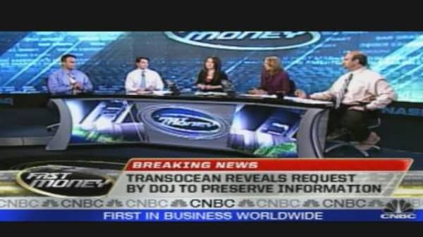 Transocean Reveals Request by DOJ